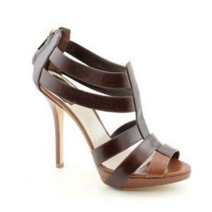Dior Chevreau Strappy Marron Chocolat Sandals